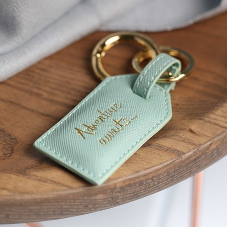 'Adventure Awaits' Luggage Inspired Keyring