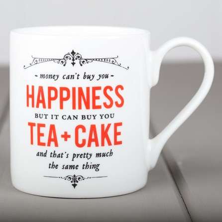 Happiness, Tea & Cake China Mug