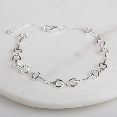 Solid Silver Riding Snaffle Bracelets