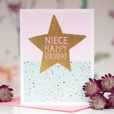 'Niece Happy Birthday' Greetings Card