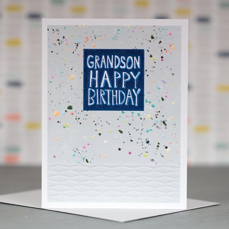 'Grandson Happy Birthday' Greetings Card