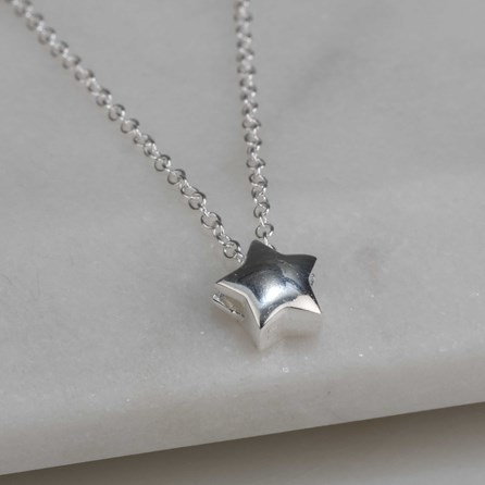 Children's Solid Silver Star Pendant