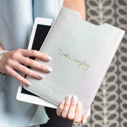 Personalised 'Sparkle Everyday' Grey Tablet Cover
