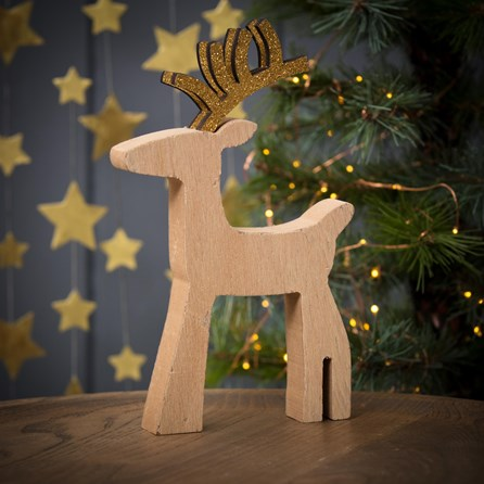Golden Antler Standing Deer