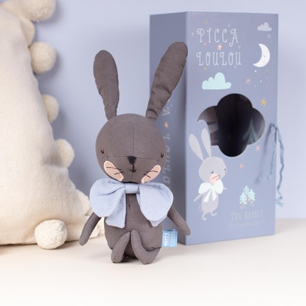 Grey Rabbit Cuddly Toy In A Gift Box