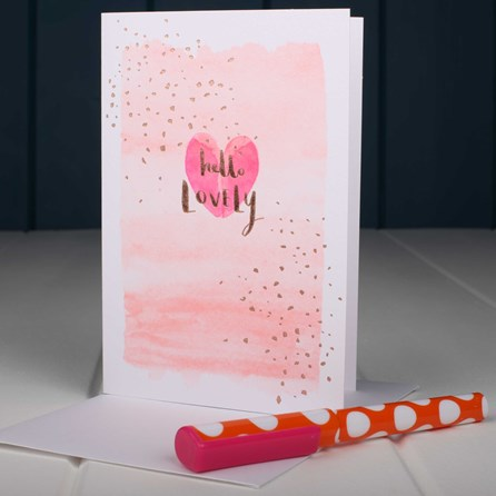 'Hello Lovely' Greetings Card