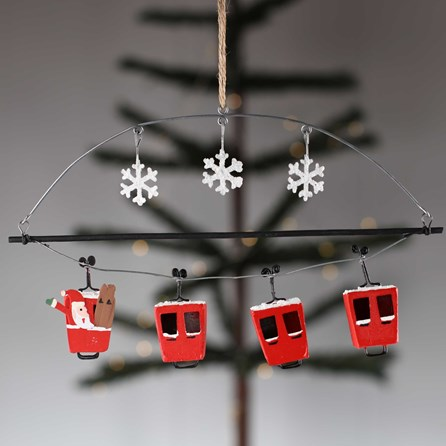 Cable Car And Snowflake Decoration