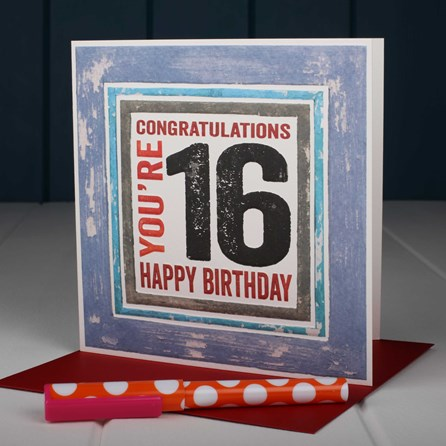 'Happy 16th' Birthday Card