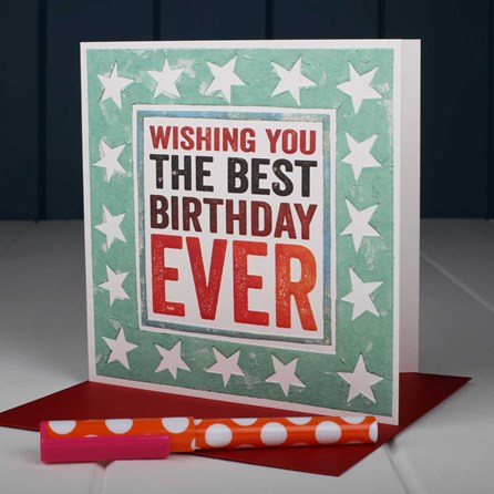 'Wishing You The Best Birthday Ever' Birthday Card