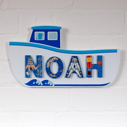 Wooden Fishing Boat Name Plaque