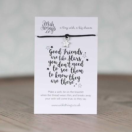 'Good Friends Are Like Stars…' Star Wish Bracelet