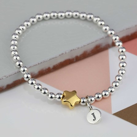 Personalised Jess Gold Star Bracelet
