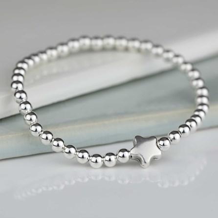 Jess Silver Star Charm Bracelet