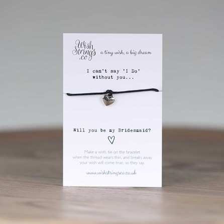 'Will You Be My Bridesmaid' Heart Wish Bracelet