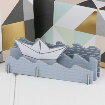 3D Sail Boat Happy Birthday Card