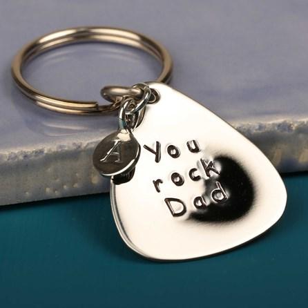 'You Rock Dad' Plectrum Keyring
