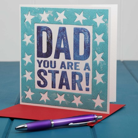 'Dad You're A Star' Card