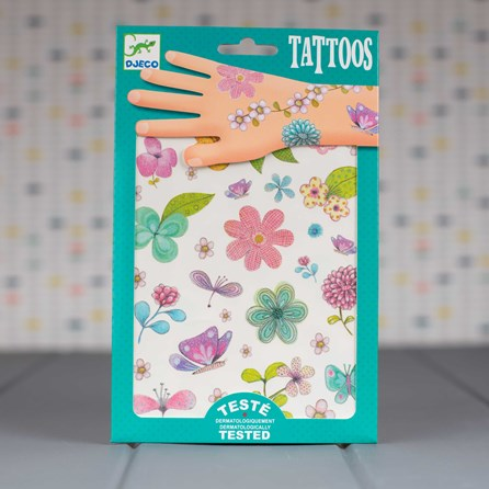 Temporary 'Flowers of the Fields' Tattoos