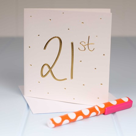 Embossed '21st' Birthday Card