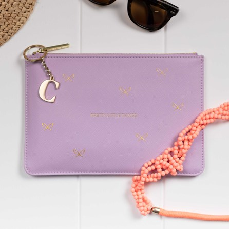 Katie Loxton Personalised 'Pretty Little Things' Lilac Pouch