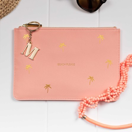 Personalised 'Beach Please' Coral Perfect Pouch