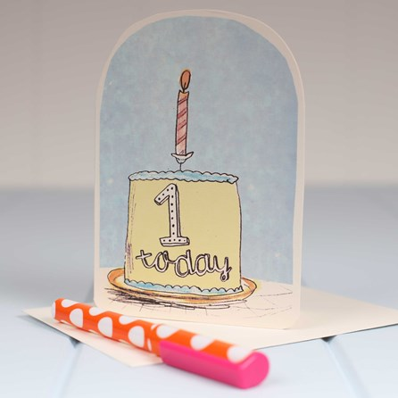 'One Today' Birthday Card