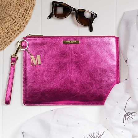 Personalised Luxe Sparkly Pink Evening Clutch Bag