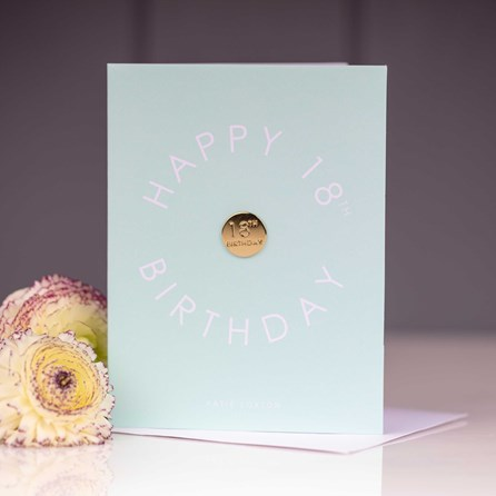 Katie Loxton 'Happy 18th Birthday' Card With Gold Pin