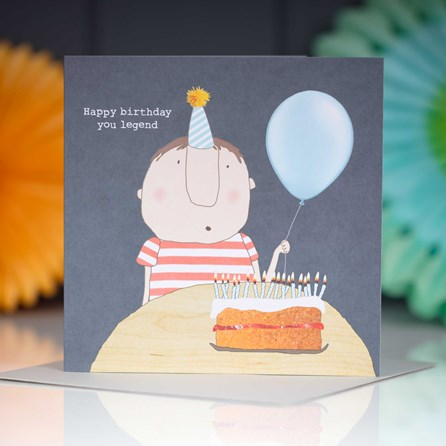 'Happy Birthday You Legend' Greetings Card