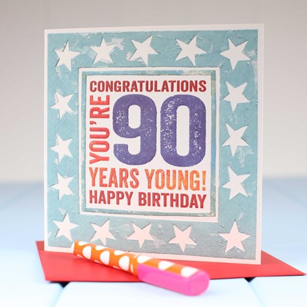 'Happy 90th' Birthday Card