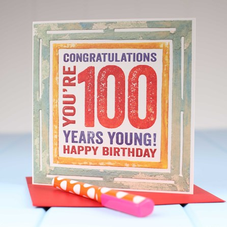 'Happy 100th' Birthday Card