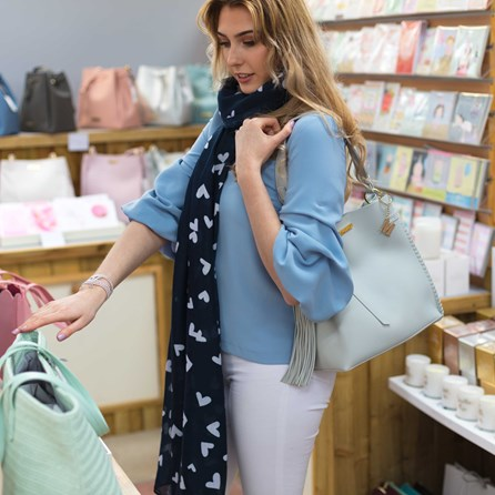 Katie Loxton Personalised Florrie Day Bag In Light Grey