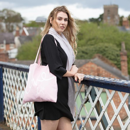 Katie Loxton 'Love Life' Canvas Bag In Pink