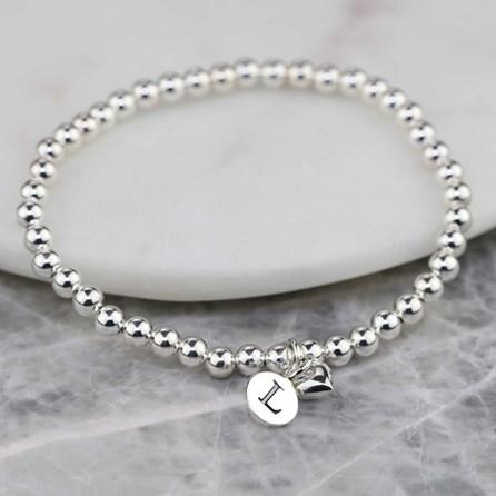 Personalised Mia Silver Heart Bracelet