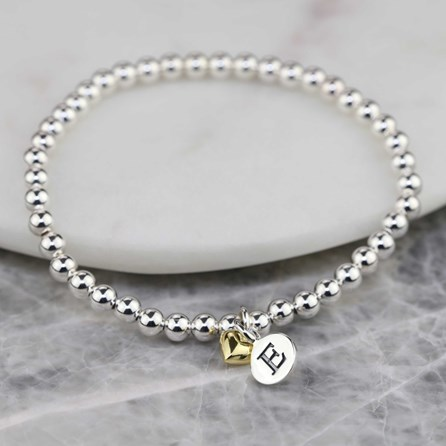 Personalised Mia Gold Heart Bracelet