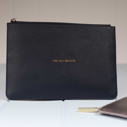 Katie Loxton Personalised 'One In A Million' Navy Perfect Pouch