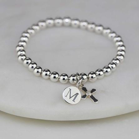 Personalised Children's Silver Christening Bracelet
