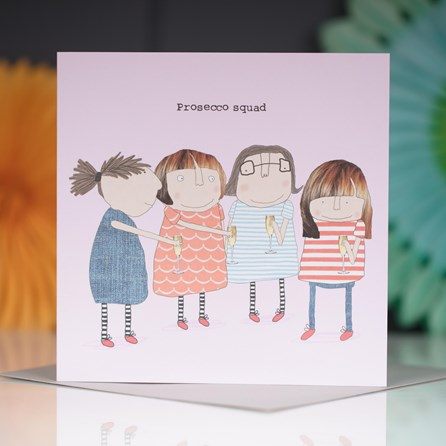 'Prosecco Squad' Greetings Card