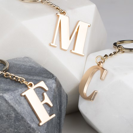 Soft Gold Letter Bag Charm