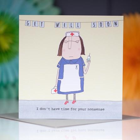 'Get Well Soon...' Greetings Card