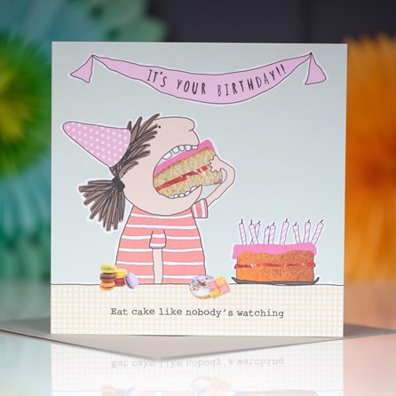 'Eat Cake...' Greetings Card