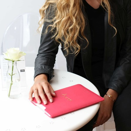 Katie Loxton Personalised 'Hello Lovely' Coral Tablet Cover
