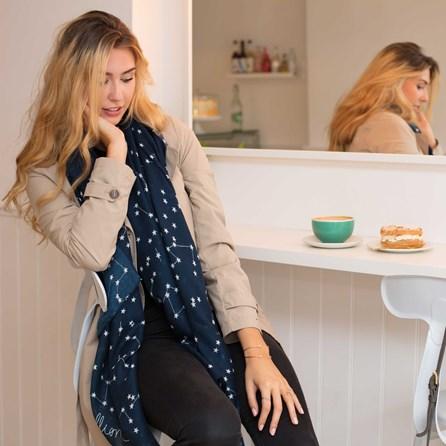 Katie Loxton 'One In A Million' Designer Navy Blue Scarf