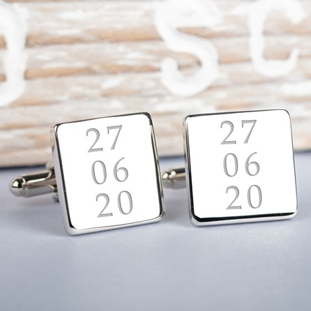 Personalised Special Dates Cufflinks