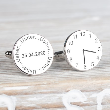 Personalised Wedding Cufflinks For The Usher