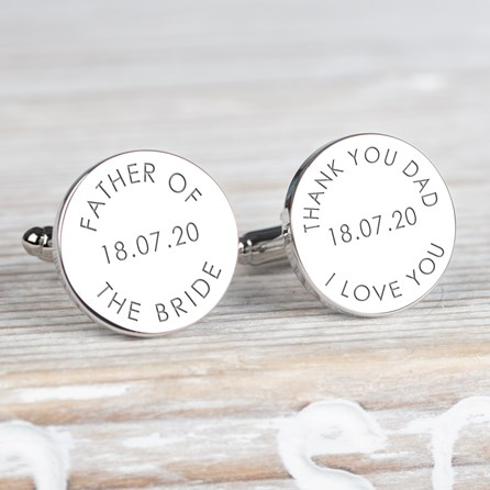 Personalised 'Father Of The…' Wedding Cufflinks