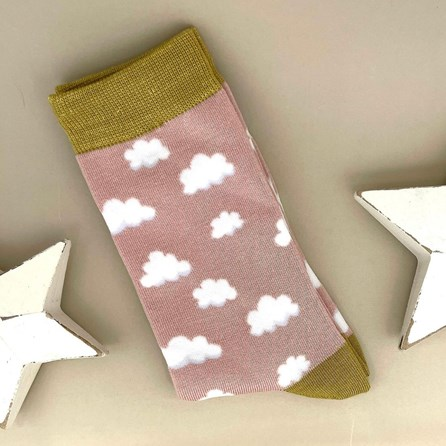 Bamboo Cloud Socks in Dusky Pink