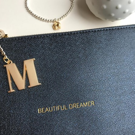 Katie Loxton Personalised 'Beautiful Dreamer' Night Sky Black Pouch