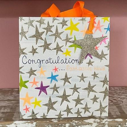 'Congratulations' Stars Large Gift Bag