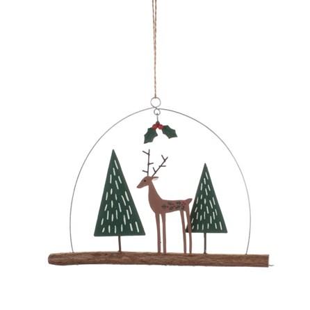 Deer on Twig Hanging Decoration